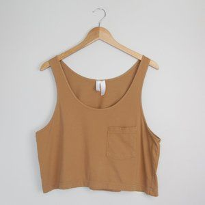 American Apparel One Size Golden Crop Tank Top